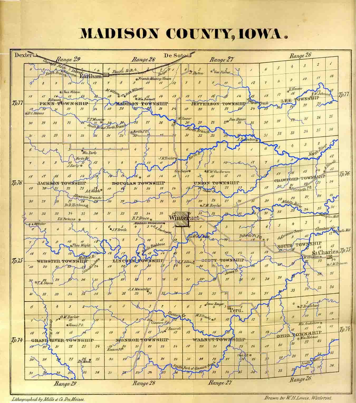 map of madison county iowa Madison County Fultons map of madison county iowa